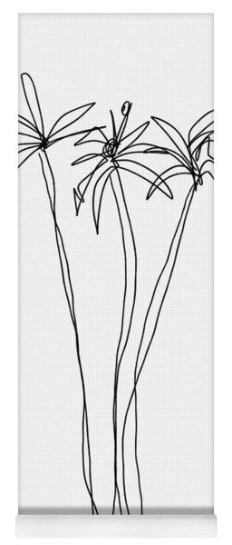 Three Tall Palm Trees- Art By Linda Woods Yoga Mat