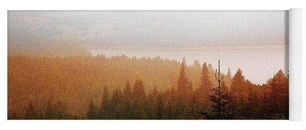 Yoga Mat featuring the photograph Through The Mist by Milena Ilieva
