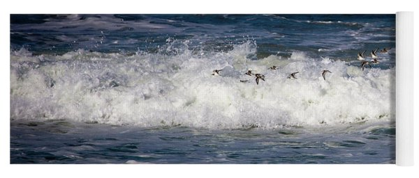 Yoga Mat featuring the photograph Through The Waves by Lora J Wilson