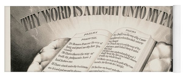 Thy Word Is A Light Unto My Path, 1872 Yoga Mat