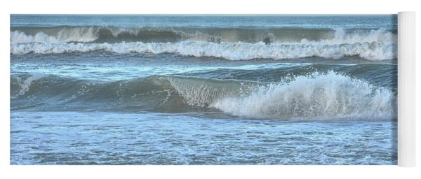 Yoga Mat featuring the photograph Tides' A Rollin' In by Jamart Photography