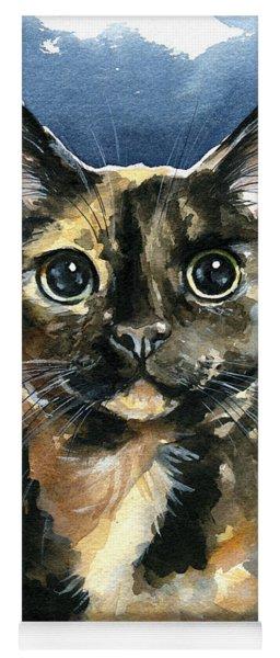 Tiffany Tortoiseshell Cat Painting Yoga Mat