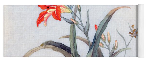Tiger Lily Yoga Mat