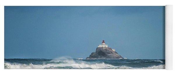 Tillamook Rock Lighthouse Near Cannon Beach Yoga Mat