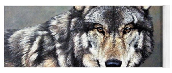 Timber Wolf By Alan M Hunt Yoga Mat