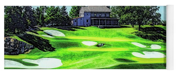 Yoga Mat featuring the photograph Top Of The Rock Golf Course - Branson Missouri by Mike Braun