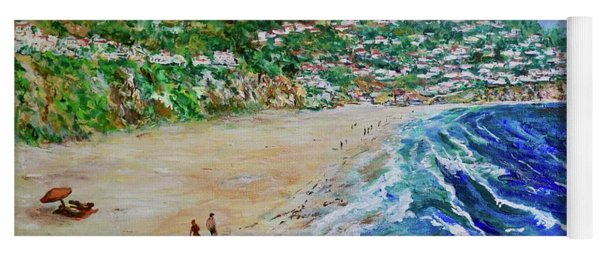 Yoga Mat featuring the painting Torrance Beach, Palos Verdes Peninsula by Tom Roderick