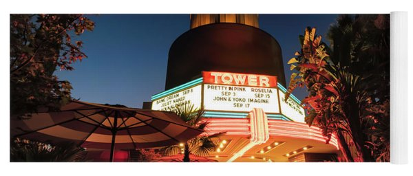 Yoga Mat featuring the photograph Tower Theater- by JD Mims
