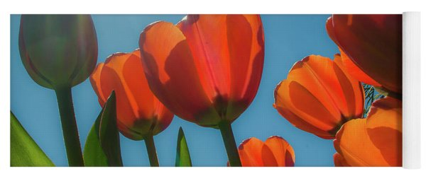 Towering Tulips Yoga Mat