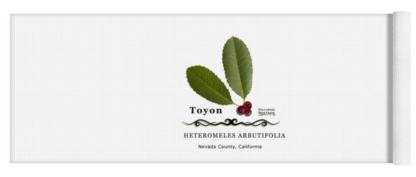 Toyon Christmas Berry Yoga Mat