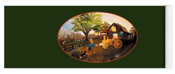 Tractor And Barn Yoga Mat