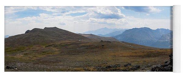 Yoga Mat featuring the photograph Trail Ridge Road Arctic Panorama by Nicole Lloyd