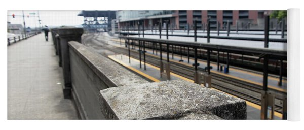 Train Tracks Servicing King Street Station Near Centurylink Field And T-mobile Park Seattle R1423 Yoga Mat