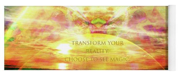 Yoga Mat featuring the digital art Transform Your Reality by Atousa Raissyan