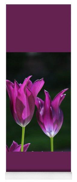 Translucent Tulips Yoga Mat