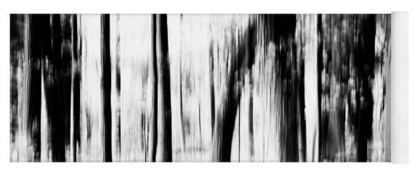 Yoga Mat featuring the photograph Tree Abstract In Black And White by Angie Tirado