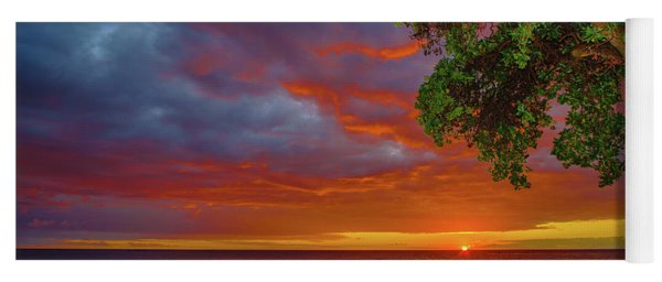 Tree  Sea And Sun Yoga Mat