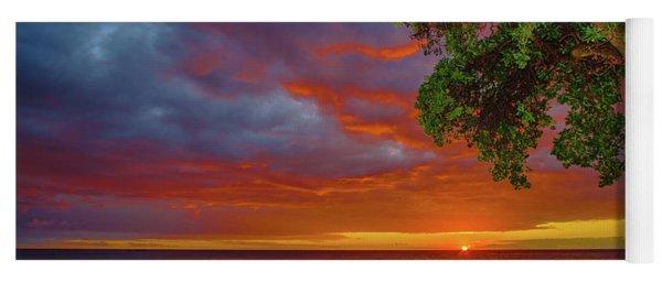 Tree  Sea And Sun Yoga Mat