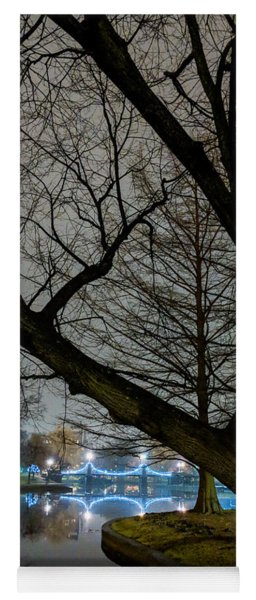 Trees And Lights Yoga Mat