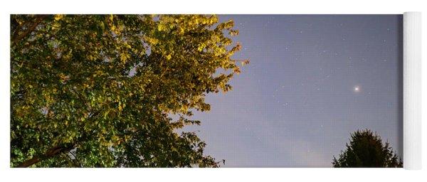Trees And Stars Yoga Mat