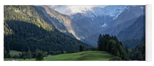 Yoga Mat featuring the photograph Trettachtal, Allgaeu by Andreas Levi
