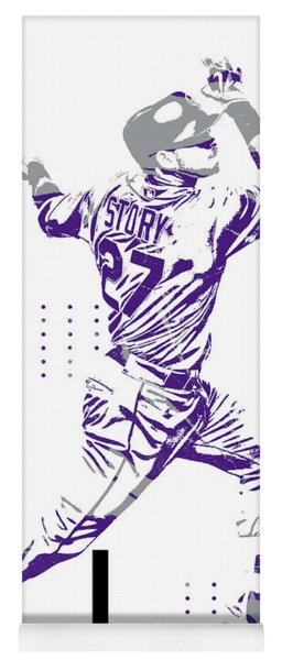 Trevor Story Colorado Rockies Pixel Art 12 Yoga Mat