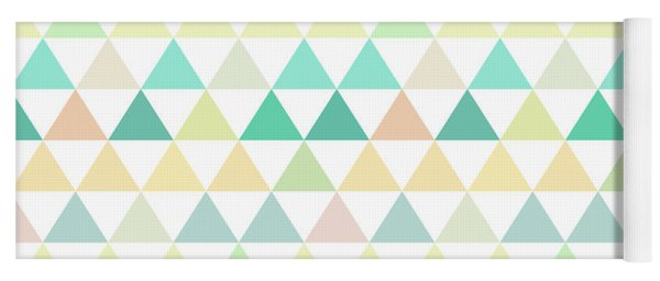 Triangle Abstract Background- Efg204 Yoga Mat