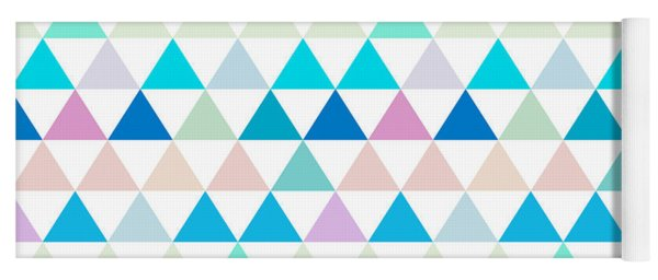 Triangle Abstract Background- Efg206 Yoga Mat