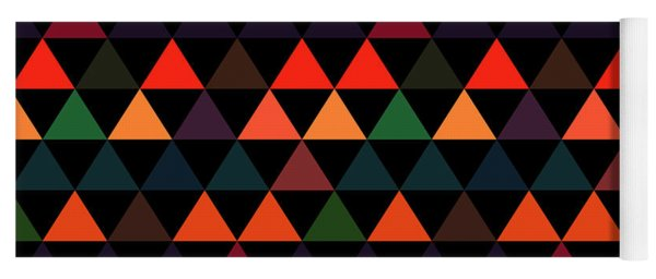 Triangle Abstract Background- Efg208 Yoga Mat