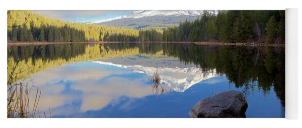 Trillium Lake November Morning Yoga Mat