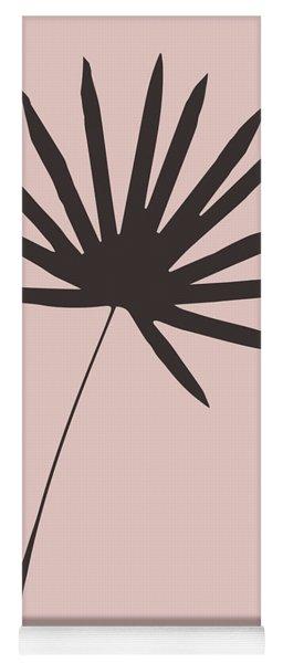 Tropical Blush Pink Leaf II Yoga Mat
