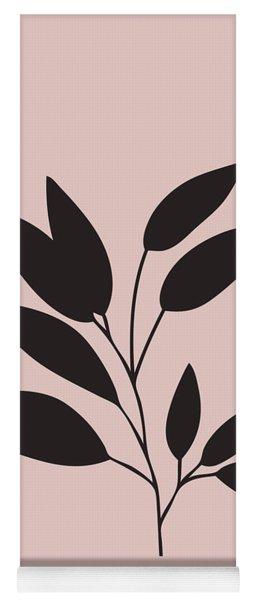 Tropical Blush Pink Leaf IIi Yoga Mat