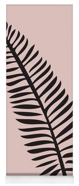 Tropical Blush Pink Leaf  Yoga Mat