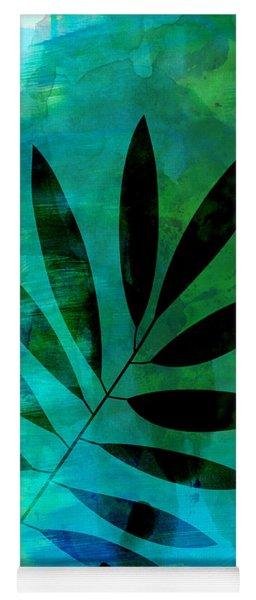 Tropical Leaf Watercolor  Yoga Mat