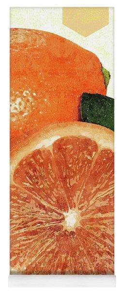 Tropical Print - Orange, Grapefruit, Tangerine - Modern Wall Art Print - Tropical Poster Yoga Mat