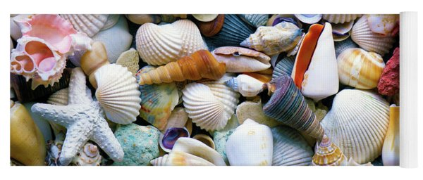 Tropical Treasure Seashells A91218 Yoga Mat
