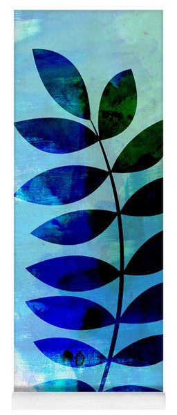 Tropical Zamioculcas Leaf Watercolor Yoga Mat