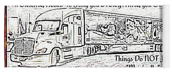 Trucking ,the Back Bone Of America Yoga Mat