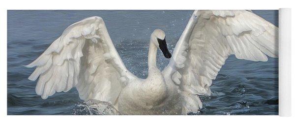 Trumpeter Swan Splash Yoga Mat