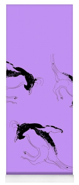 Tumbling Penguins Yoga Mat