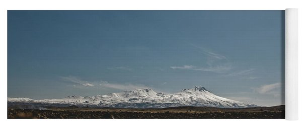 Turkish Landscapes With Snowy Mountains In The Background Yoga Mat