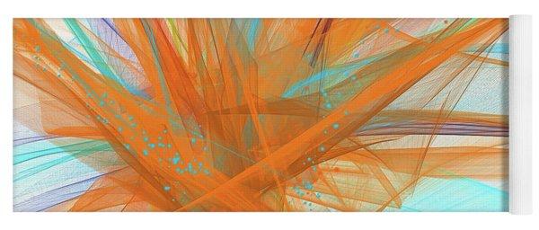 Turquoise And Orange Art Yoga Mat