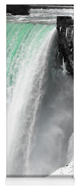 Yoga Mat featuring the photograph Turquoise Falls by Lora J Wilson