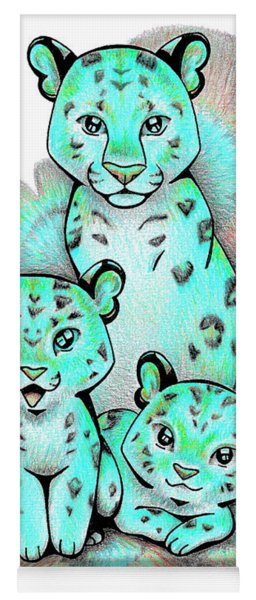 Turquoise Leopards Yoga Mat