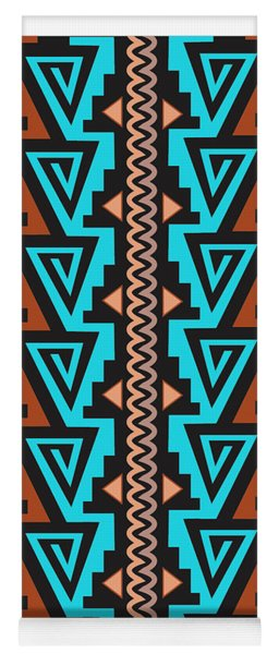 Turquoise Triangle Pattern Yoga Mat