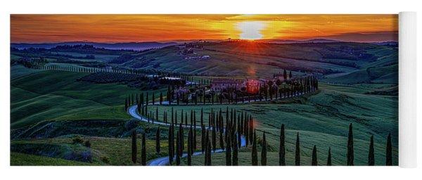 Tuscan Sunset Yoga Mat