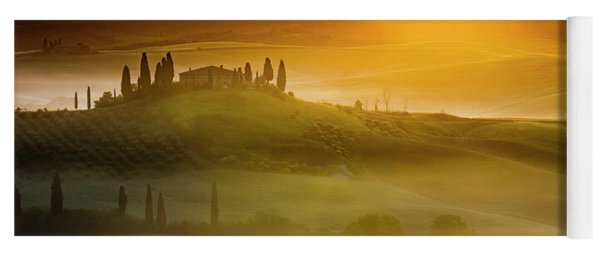 Tuscany In Gold Yoga Mat