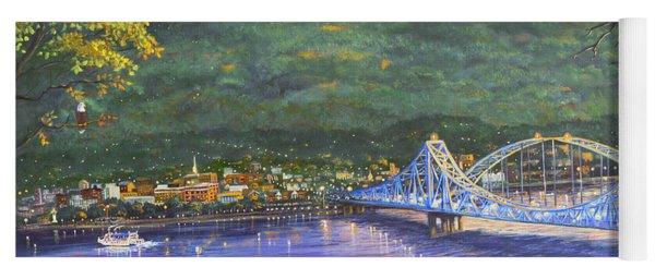 Twilight At Blue Bridges Yoga Mat