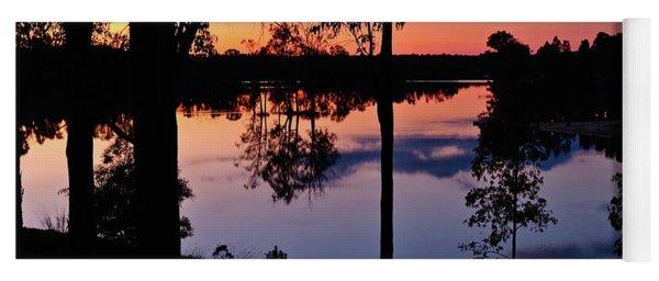Twilight By The Lake Yoga Mat
