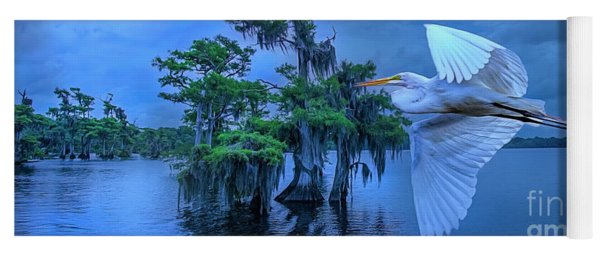 Twilight Egrets At Blue Cypress Lake. Yoga Mat